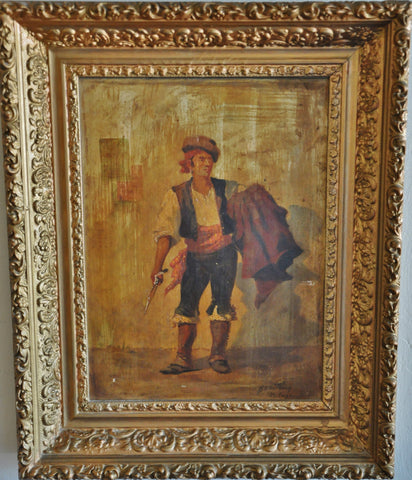 Original Oil Painting by Ripley O Anthony Malaga Spain 1890