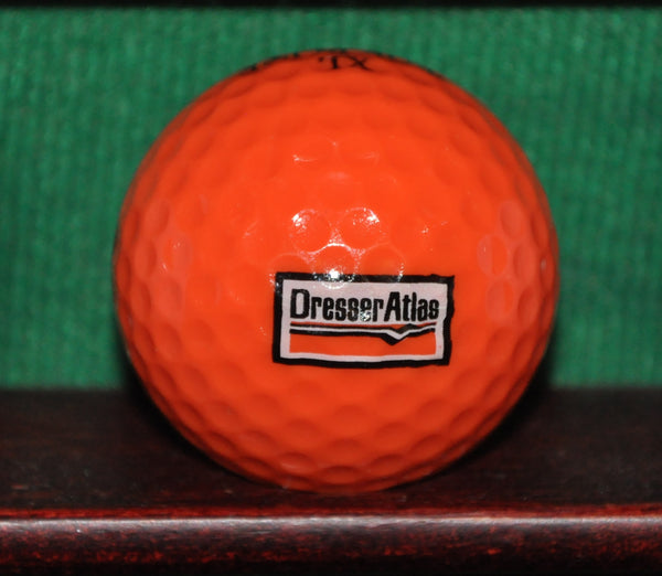 Vintage Orange Dresser Atlas Oil Services Company Logo Golf Ball