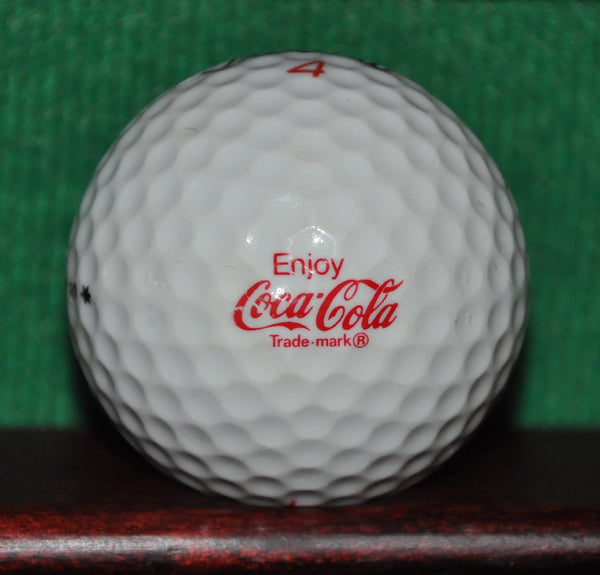 Vintage Coca Cola Company Logo Golf Ball. Titleist 384 DT 90