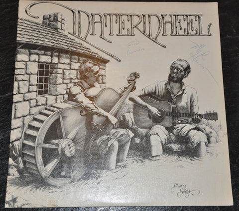 Waterwheel Vinyl LP Signed by Fred Cummins and Mark Hanson Christian Folk Music. 1976