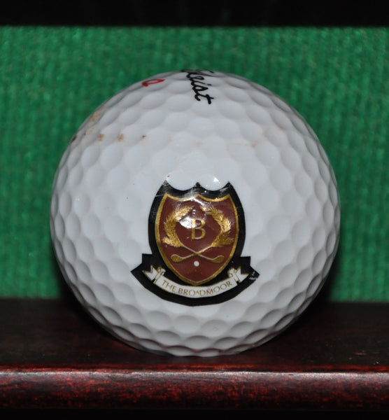 The Broadmoor Colorado Springs Golf Resort logo golf ball. Titleist