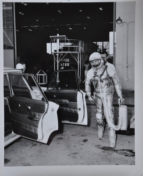 "Original 1963 8"" x 10"" Photo of Mercury Astronaut Gordon Cooper Launch Day"