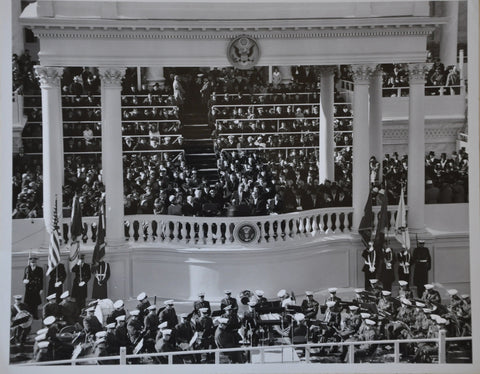 "Original 1961 8"" x 10"" Photo of President John F Kennedy's Inaugural Address"