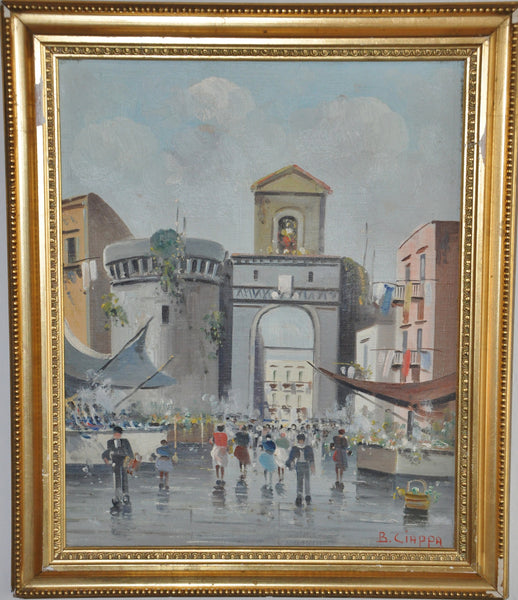 Original Oil on Canvas Painting by Italian Painter B Ciappa