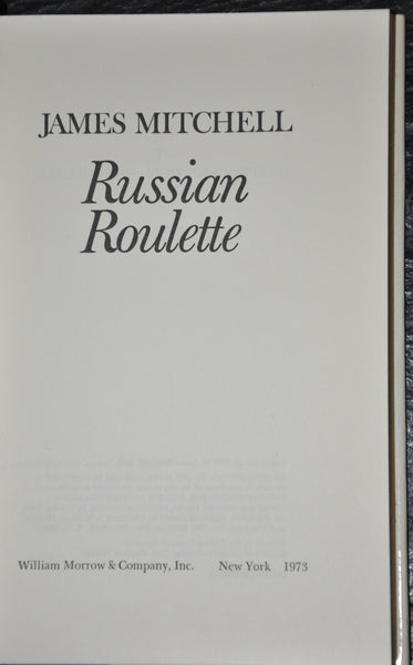 Russian Roulette by James Mitchell 1973 HC DJ First Edition