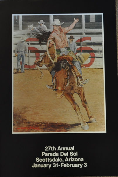 "Original Advertising Poster for the Parada Del Sol by James Asher 36"" x 24"" 1979"