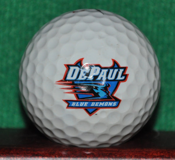 DePaul University Blue Demons logo golf ball. Nike RZN Black