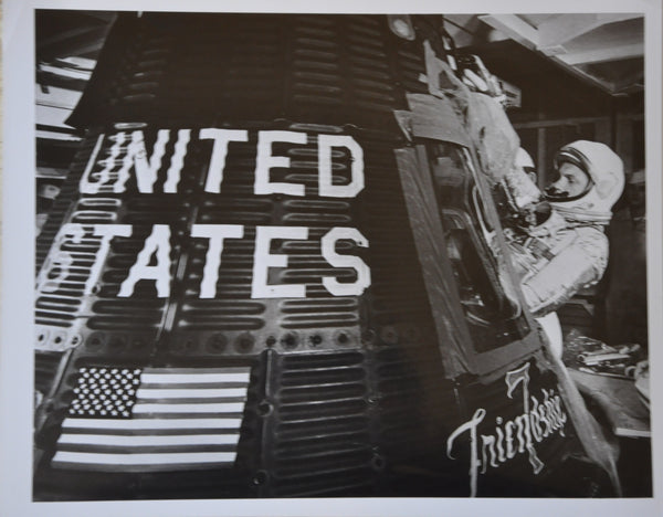 "Original 1962 8"" x 10"" Photo of John Glenn Boarding Friendship 7 for Historic Mercury Mission"