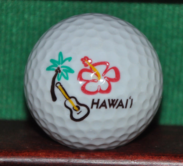 Hawaii Hibiscus and Ukulele Logo Golf ball.