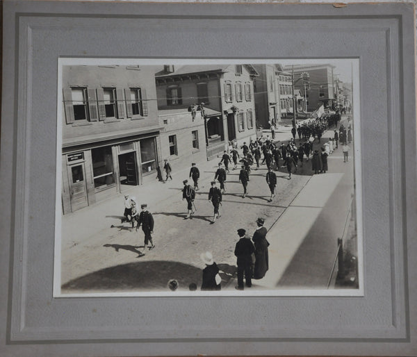 "Original 8"" x 10"" Inch 1919 Photograph of a Patriotic Parade in Rhode Island"