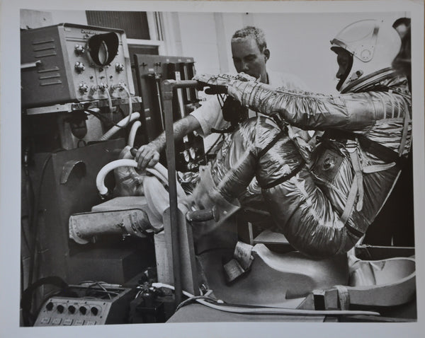 "Original 1962 8"" x 10"" Photo of John Glenn on Mercury Mission Pre-Launch Tests"