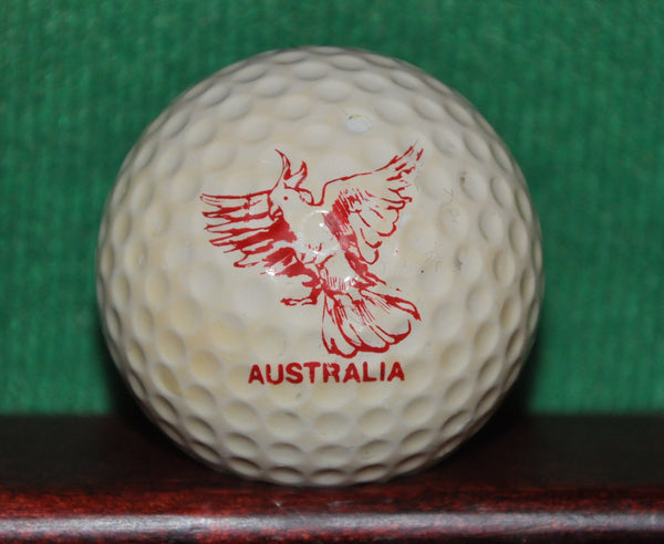 Vintage Slazenger Fireball Golf Ball with Flying Australian Cockatiel Logo ~1965