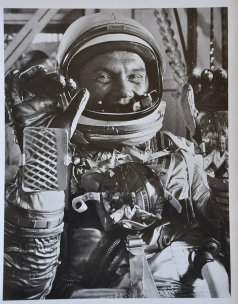 "Original 1962 8"" x 10"" Photo of John Glenn in his Mercury Spacesuit"