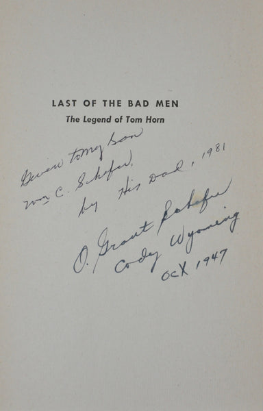 Last of the Bad Men by Jay Monaghan 1946 First Edition