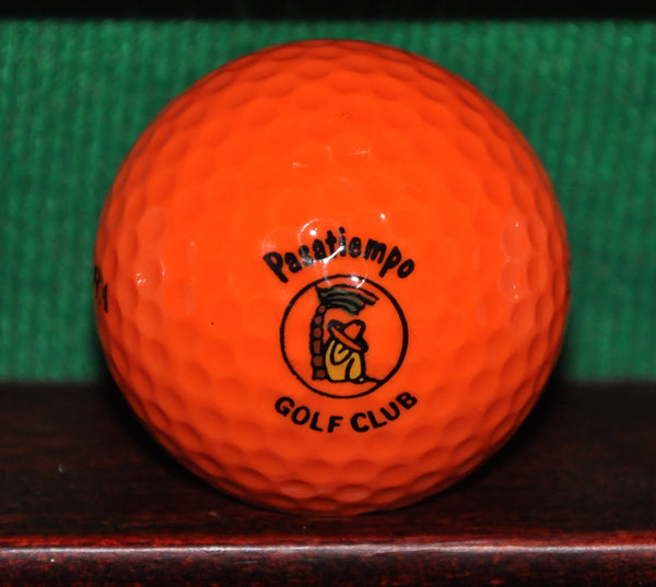 Vintage Pasatiempo Golf Club logo golf ball. Santa Cruz California. Orange ~1985