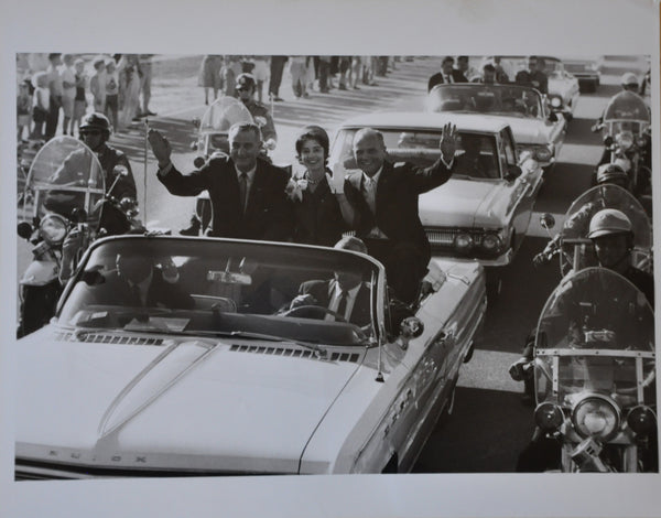 "Original 1962 8"" x 10"" Photograph of Astronaut John Glenn and President Jonson on Parade in Washington DC"