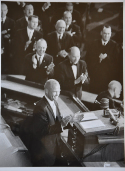 "Original 1962 8"" x 10"" Photograph of John Glenn Addressing a Joint Session of Congress"