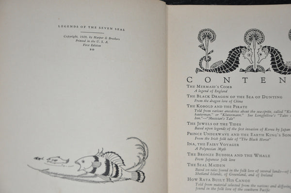 Legends Of The Seven Seas Margaret Evans Price 1929 1st Edition Hardcover Illustrated