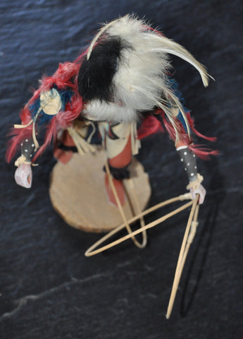 "Hoop Dancer Kachina by M Largo Navajo 12"" Plus Base 1986"