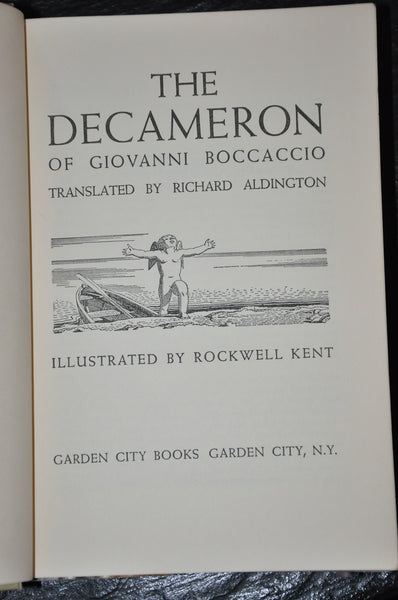 The Decameron of Giovanni Boccaccio Illustrated By Rockwell Kent 1949 Hardcover with Dust Jacket