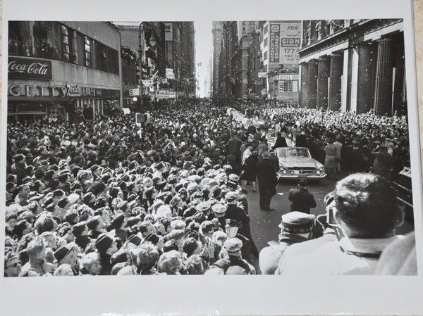 "Original1962 8"" x 10"" Photograph of NASA Astronaut John Glenn's Ticker Tape Parade in New York"