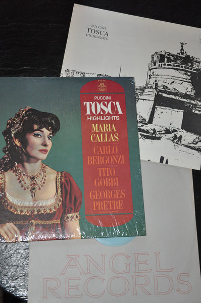 Puccini Tosca Highlights LP Maria Callas