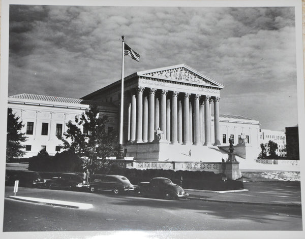 "Original Vintage 8"" x 10"" Photograph of US Supreme Court Building 1959"