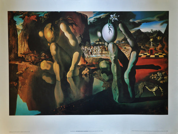 "Vintage Original Print of Narcissus by Salvador Dali 34"" x 22"" Tate London"