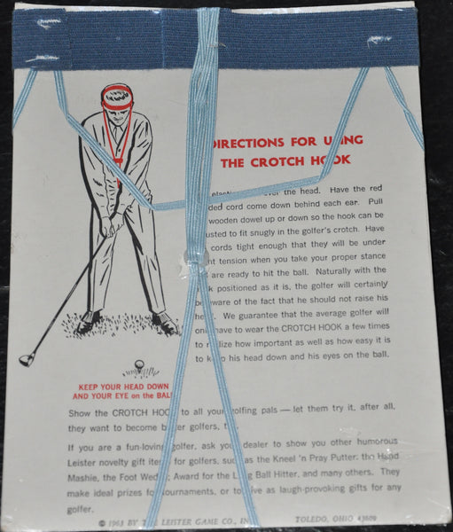 Original Vintage Golfer's Crotch Hook. 1963