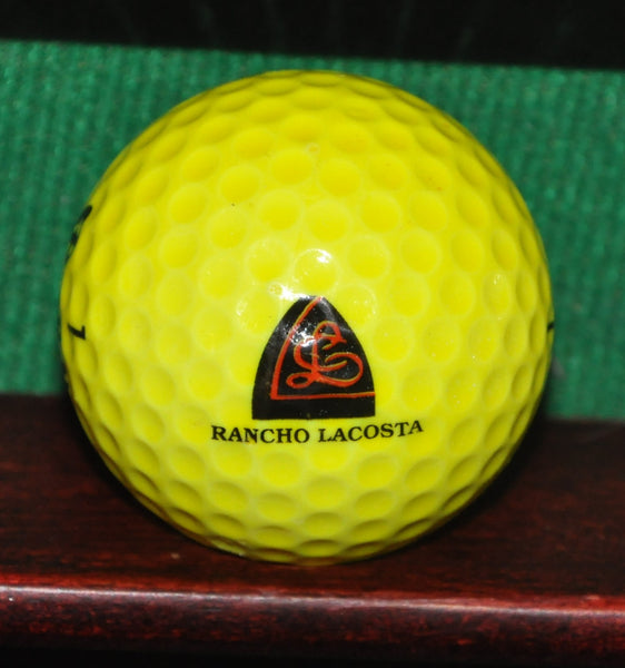 Vintage Rancho La Costa Resort and Spa Yellow logo golf ball