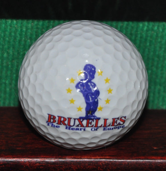 Bruxelles Brussels Belgium the Heart of Europe Logo Golf Ball