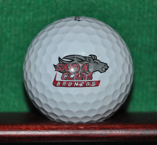 Santa Clara University Broncos Athletics logo golf ball. Titleist Pro V1