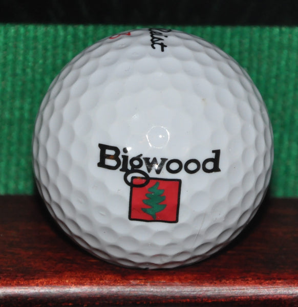 Bigwood Golf Course Ketchum Idaho Logo Golf Ball. Titleist