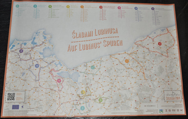 "Map of Szczecin Poland in Polish Language. 16"" x 23.5 Inches"