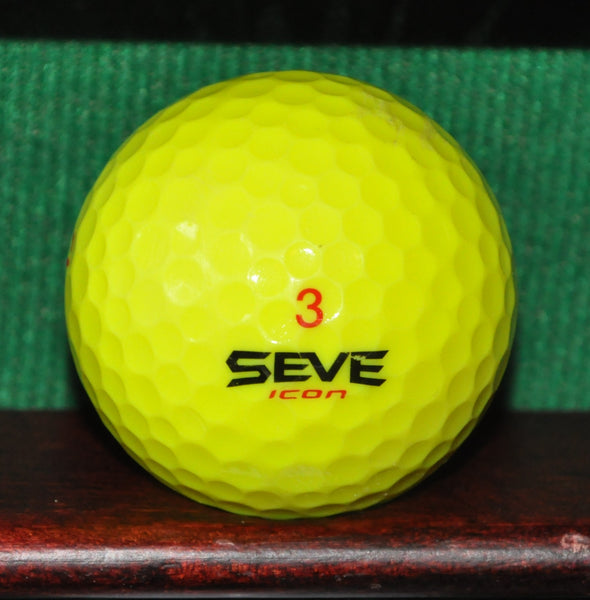 Yellow Seve Icon Golf Ball