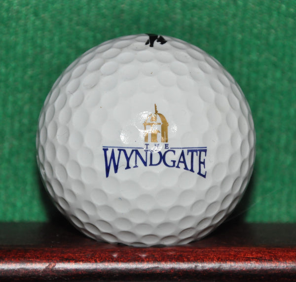 The Wyndgate Country Club Oakland Township Michigan Logo Golf Ball. Slazenger Black Label