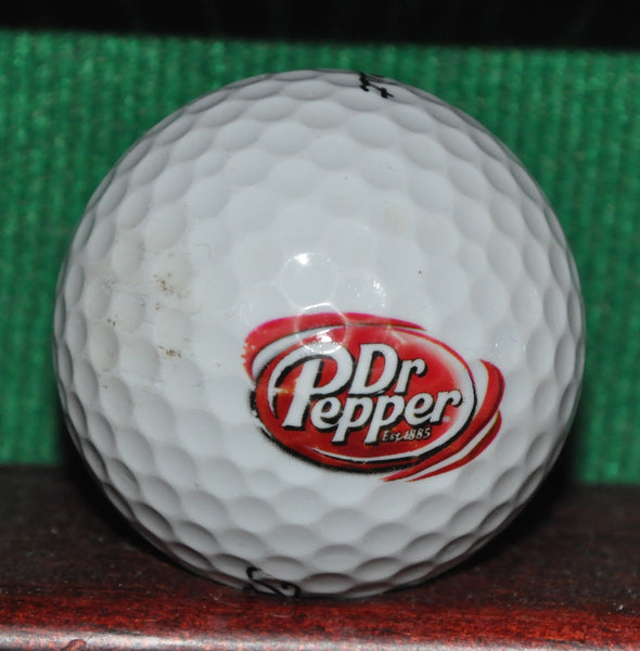 Dr. Pepper Soda Logo Golf Ball. Titleist NXT