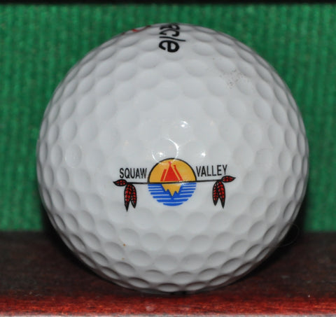 Squaw Valley California Golf Course Logo Golf Ball