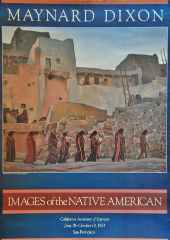 "Maynard Dixon Images of the Native American. Print. California Academy of Sciences 28"" x 20"" 1981"