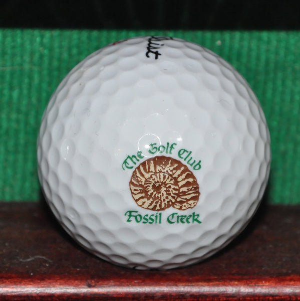 The Golf Club at Fossil Creek Ft. Worth Texas Logo Golf Ball. Titleist