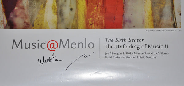 "Music at Menlo 2008 SIGNED Poster by Pianist Wu Han. 36"" x 24"""