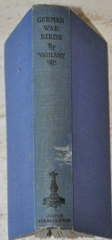 German War Birds by Vigilant First Edition 1933 Hardcover