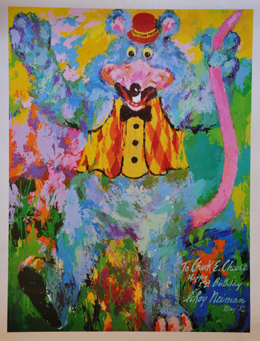 "Original Chuck E Cheeses Poster by Leroy Neiman 1982 24"" x 18.5"""