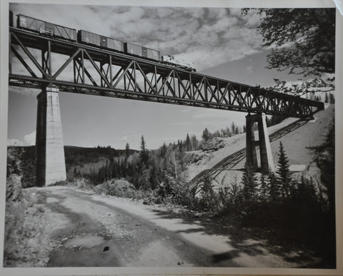 "Original 8"" x 10"" Photo of Canadian Pacific Railway Train in British Columbia"