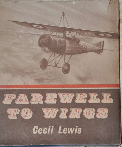 Farewell to Wings by Cecil Lewis Temple Press Books 1964 FE Hardcover with Dust Jacket