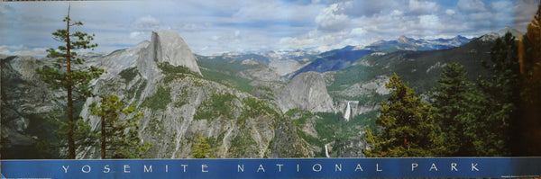 "Yosemite National Park Panorama Poster. 34"" x 12"""