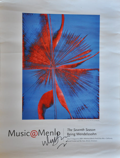 "Music at Menlo 2009 SIGNED Poster by Pianist Wu Han. 24"" x 18"""