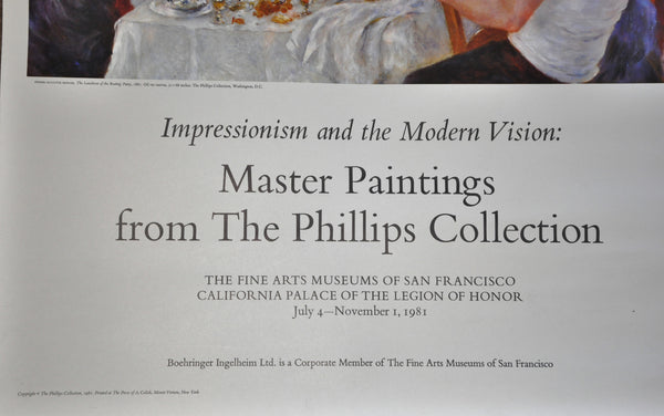"Original Exhibit Poster California Palace Legion of Honor Renoir 1981 30"" x 24"""
