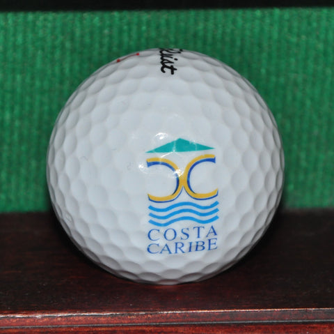 Costa Caribe Golf and Country Club Puerto Rico Logo Golf Ball. Titleist