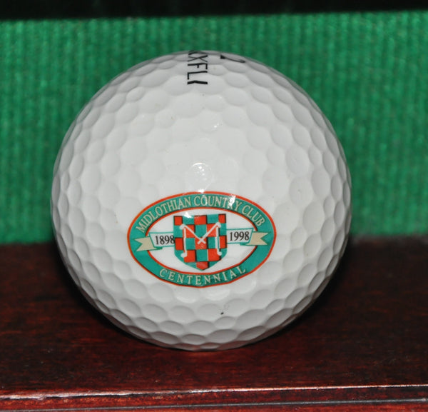 Midlothian Country Club Chicago 100th Anniversary Logo Golf Ball